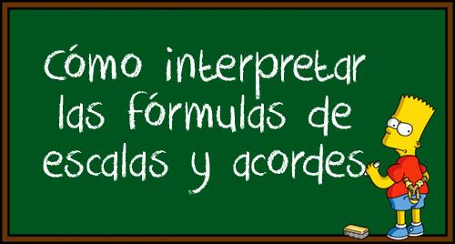 Fórmulas de acordes y escalas
